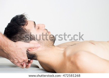 doctor offering head manipulation