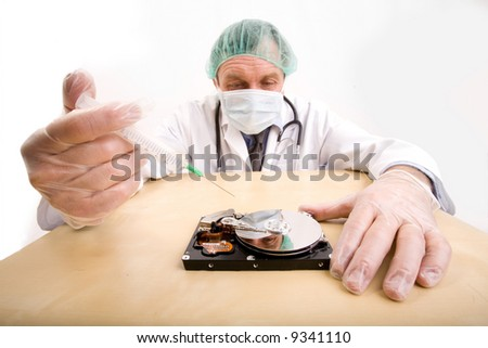 Doctor PC - stock photo