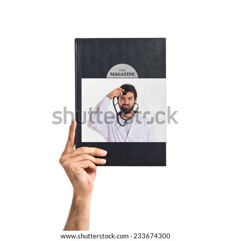 Doctor printed on book