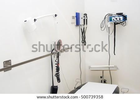 Doctor's examination room with equipment