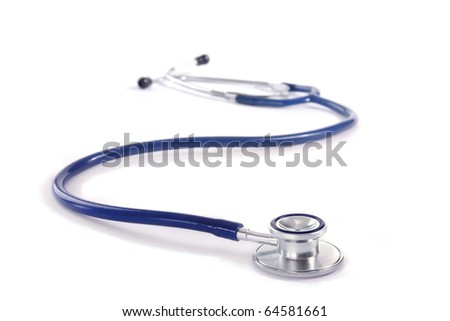 Doctor's stethoscope on a white background - stock photo