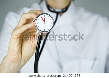 doctor time 5 to 12 - stock photo