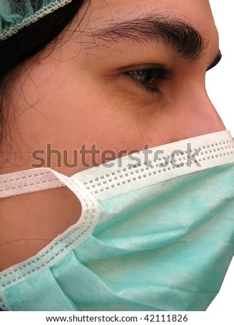 doctor with mask - stock photo