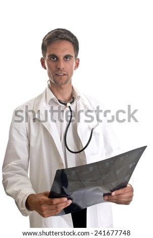 Doctor with x-ray in hand