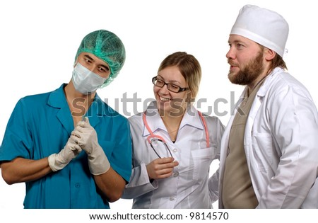 Doctors. Isolated on white background.