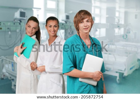 doctors smiling - stock photo