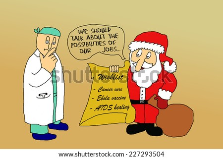 Doctors wishlist for Christmas - stock photo