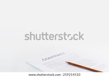 Document and pencil - stock photo
