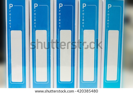 document binder stacked, space  - stock photo