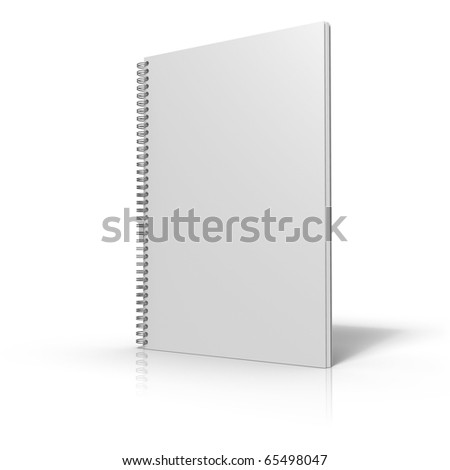 Document binder with spiral binding on white background