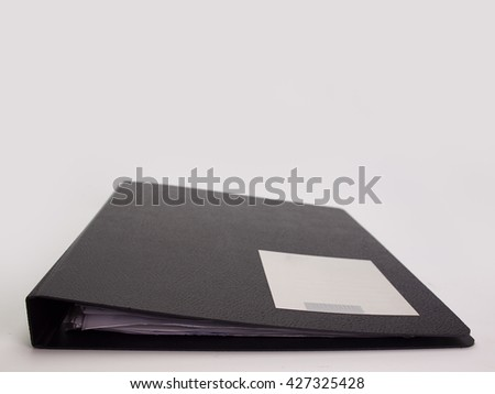 document file , placed on a white background. - stock photo