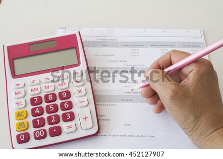 document monthly expenses of credit card