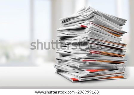 Document, Paper, File. - stock photo