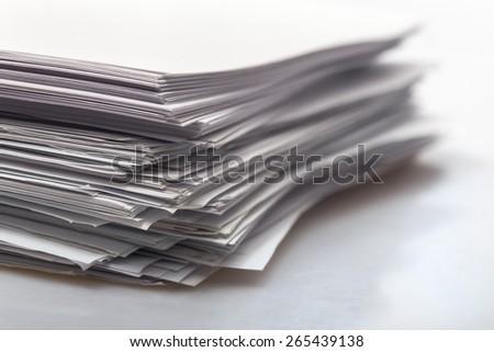 Document, paperwork, report. - stock photo