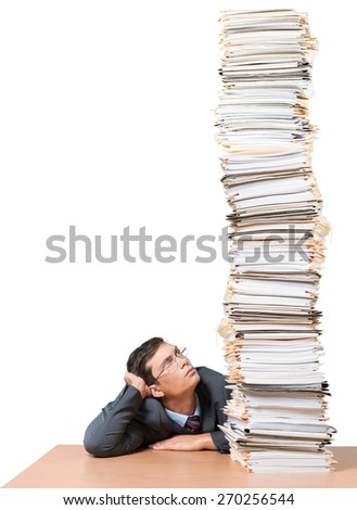 Document, Stack, Paperwork. - stock photo