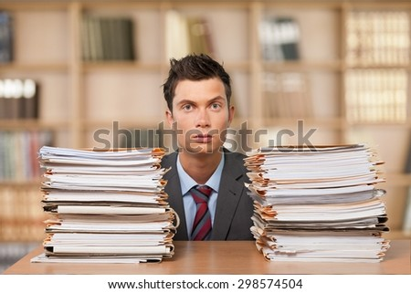 Document, Stack, Paperwork.
