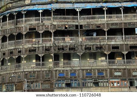 Documentary: alternative life in the center of Mumbai, India - stock photo