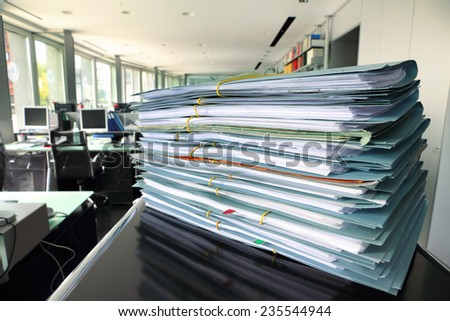 Documents and files - stock photo