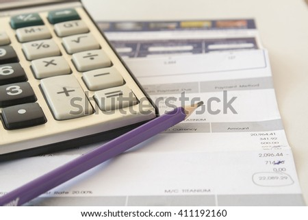 documents monthly expense of credit card