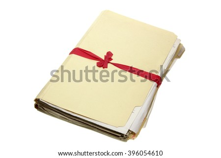 Documents on White Background - stock photo