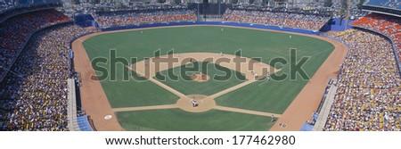 Dodger Stadium, Dodgers v. Astros, Los Angeles, California - stock photo