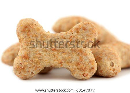 Dog biscuits bone shaped - stock photo