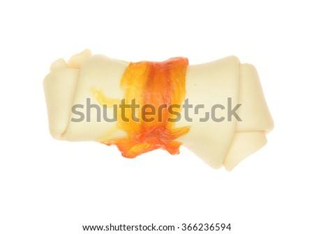 Dog bone isolated on white background - stock photo