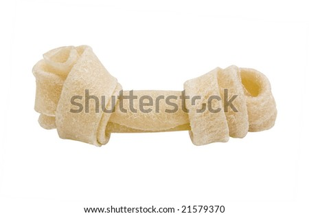 Dog bone (toys) isolated on a white background (with clipping path)