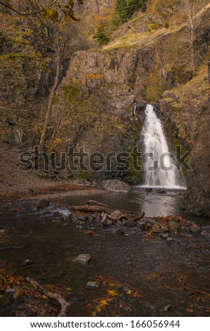 Dog Creek Falls, Washington - stock photo
