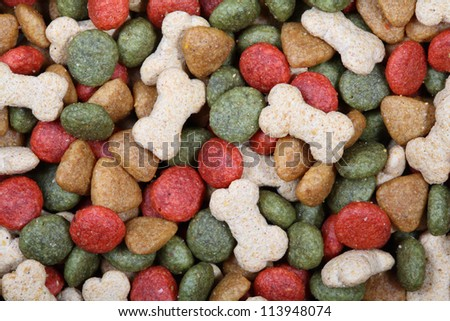 Dog food close up - stock photo