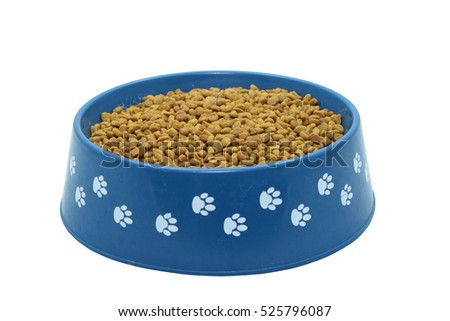 Dog Food Isolated On White
