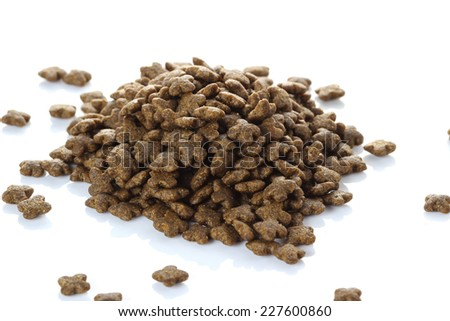 dog food on white background. - stock photo
