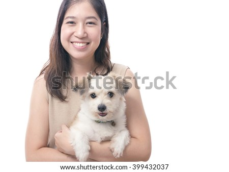 Dog owner with dog lover
