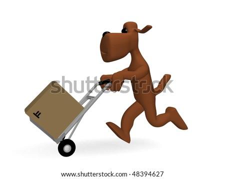 dog parcels - stock photo