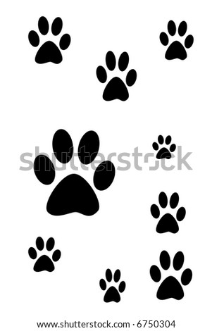 Dog prints ilustration