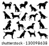 Dog Silhouettes. JPG - stock vector