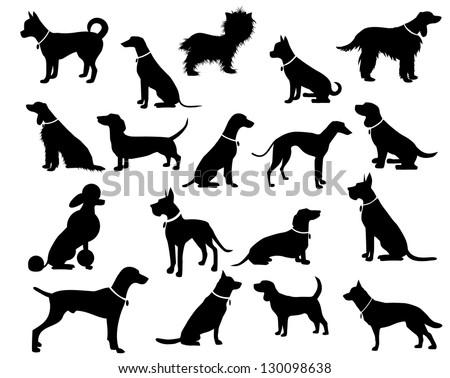 Dog Silhouettes. JPG - stock photo