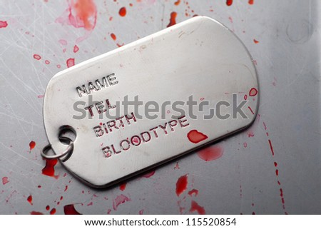 dog tag/army chains of soldiers of injury - stock photo