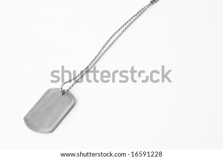 Dog tag on a white background