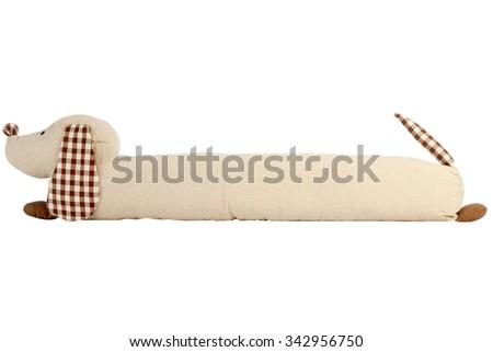 dog toy isolated on white, Pattern Fabric - stock photo
