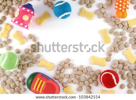 Dog Toys and Food - stock photo