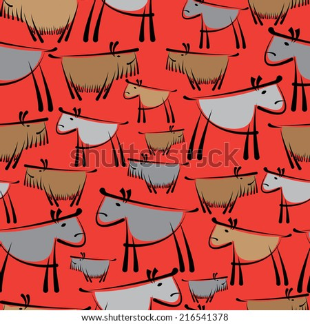 dogs are different seamless pattern