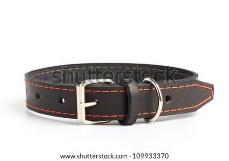 dogs collar on white - stock photo