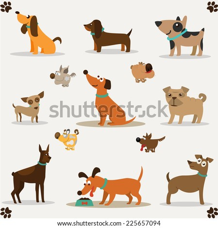 Dogs collection illustration - stock photo