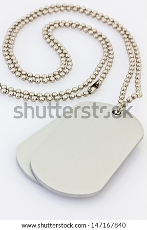 Dogtags - stock photo
