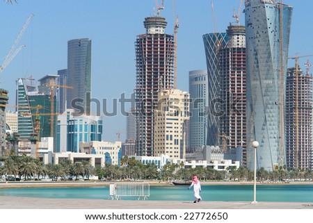 Doha - Qatar - cityscape - stock photo