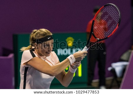 DOHA-QATAR: FEBRUARY 19: Tennis Player  at Qatar Total Open on February 19, 2012 in Doha, Qatar