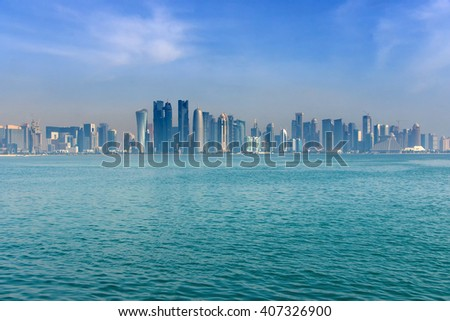 Doha skyline at morning, Qatar, Middle East