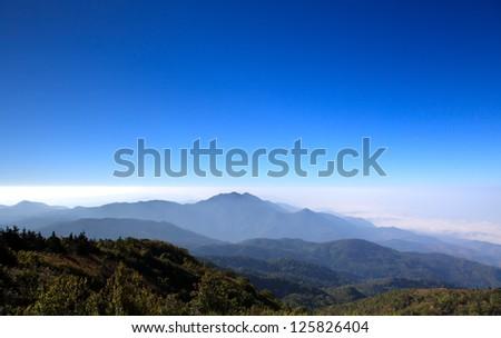 Doi Inthanon national park, ChiangMai, Thailand - stock photo