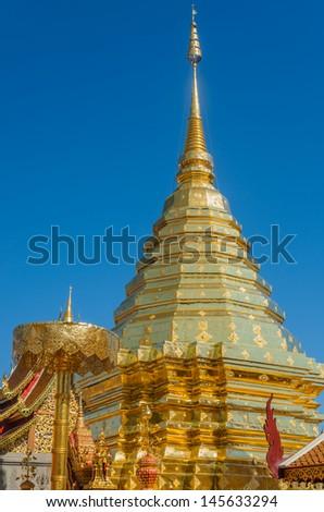 Doi Suthep Temple, Chiangmai, Thailand - stock photo
